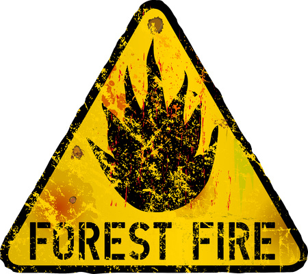 forest fire warning sign, vector illustration