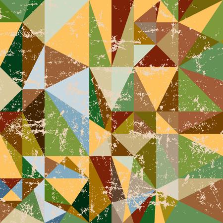 retro grunge: Retro triangle grunge background pattern, tessellation, vector Illustration