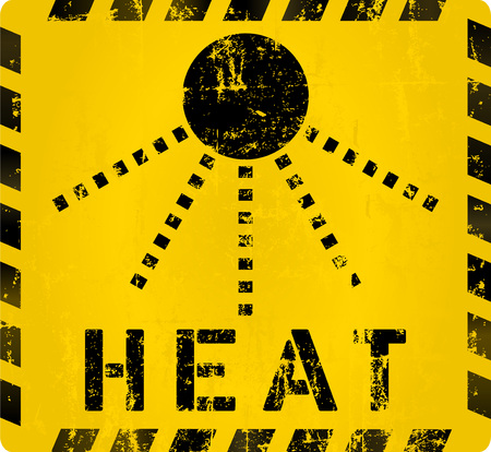 danger ahead: heat warning sign,vector eps 10 Illustration