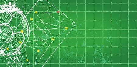 tactics: Soccer  design template,free copy space, vector Illustration