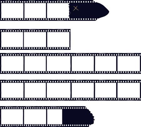 set of film stripes, photo frames, free copy space,vector Illustration