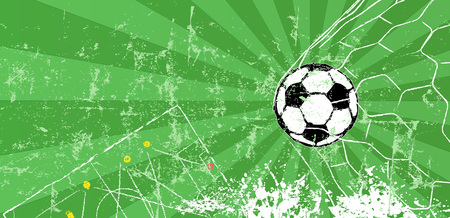 Soccer  Football design template or background, free copy space, vector
