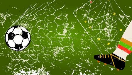 Retro soccer design template