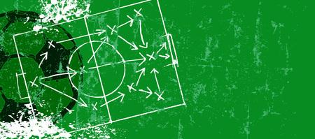 Grungy voetbal  voetbal ontwerpsjabloon, gratis exemplaar ruimte, vector