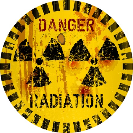 Rotten radiation warning sign, vector illustration