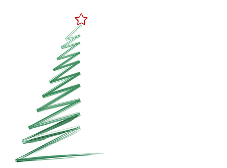 Abstract scribble of a christmas tree, isolated on white Background,vector Vector Illustration