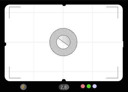 Klassieke SLR-zoeker vectorillustratie Stock Illustratie
