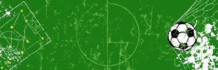 Grungy ilustracja piłka nożna lub banner www. Format wektorowy. Bezpłatna kopia Ilustracje wektorowe