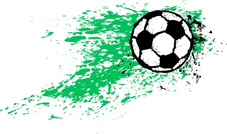 Grungy Soccer ball isolated, flat style vector illustration