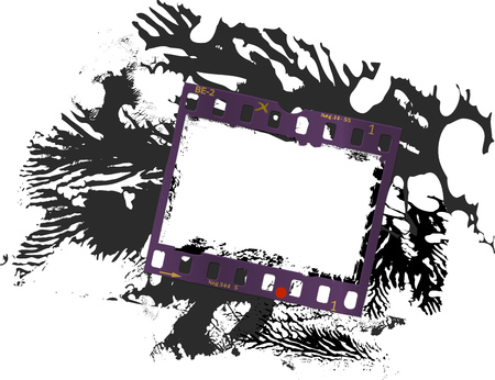 frame of film, grungy photo frame, grunge texture, free space for pix