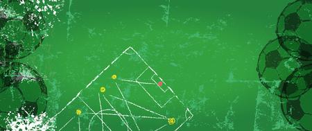 Soccer   Football design template, free copy space, Vector illustration. Illustration