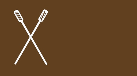Plastic stirring rods for coffee to go on brown background coffee menu template.