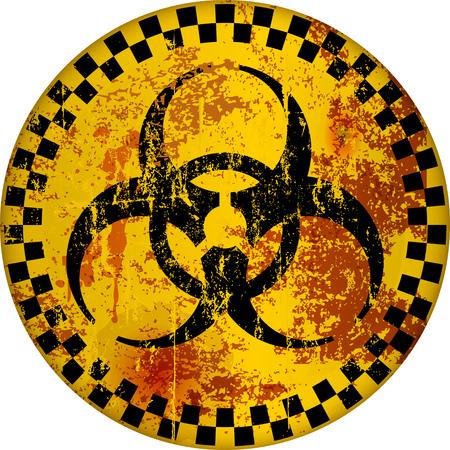 computer virus, hacker alert sign, vector illustration Illustration