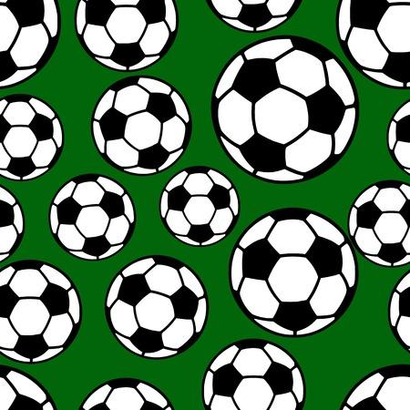 Soccer ball seamless pattern, football background, flat style vector illustration.