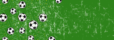 Soccer, football design template background with copy space. Illustration