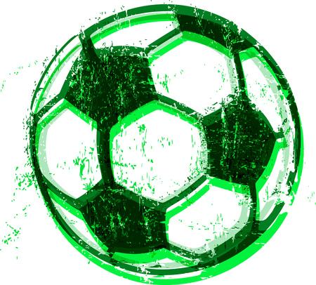 Grungy Soccer ball  football illustration, vector illustration Illustration
