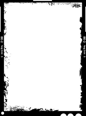 Large format film sheet negative, 4 x 5 inch, empty picture frame, grungy style, free copy space