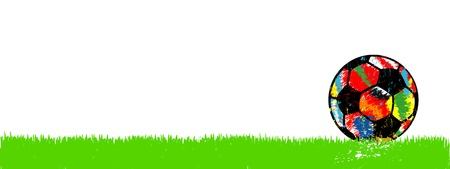 Soccer ball seamless pattern, football background, flat style vector illustration