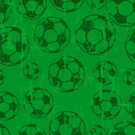 seamless soccer ball  football background, grungy vector