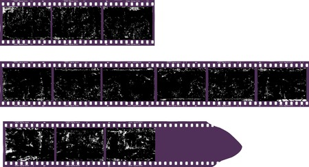 Blank filmstrip, grungy photo frame, free space for pictures,vector,fictional artwork Stock Photo