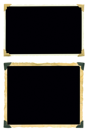 photo frames, old blank photos, isolated on white, free space for your pics and copy