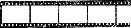 grungy movie strip, blank photo frames, free space for pictures, vector, fictional artwork