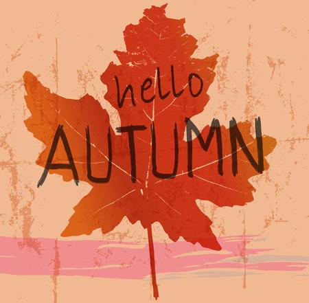 maple leaf, autumn symbol, vector illustration