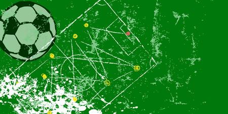 retro soccer o. football design template, vector with free copy space