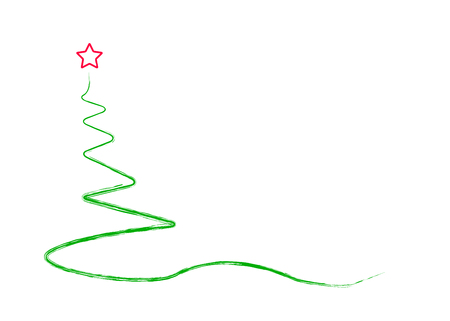 abstract christmas tree, isolated on white,vector