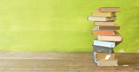 stack of books, panorama, good copy space, education,reading,back to school concept
