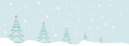 abstract christmas tree and snowflakes, chistmas decoration,vector Standard-Bild - 113578471
