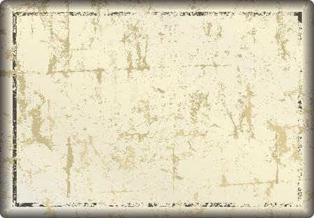 letrero de metal en blanco grunge o marco de imagen, espacio de copia libre, ilustración vectorial