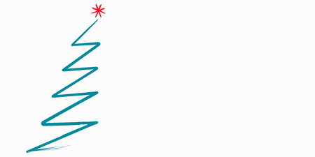abstract christmas tree, sign, symbol, design element, isolated, vector illustration