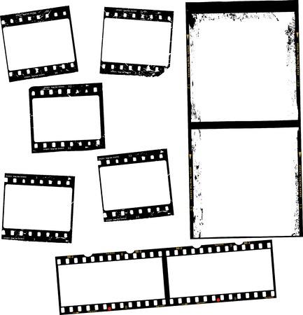 photographic film, film stripes, various formats, negativs, photo frames, free copy space,vector Illustration