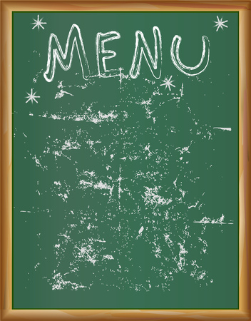 Black board restaurant ot kitchen menu design template, free copy space