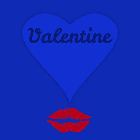 valentines day and love greeting card design,free copy space, vector Illustration