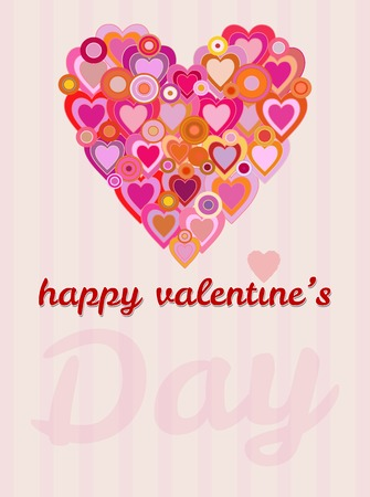 valentine's day and love greeting card design template, free copy space, vector