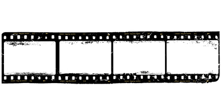 frames of film, grungy photo frames,with free copy space.