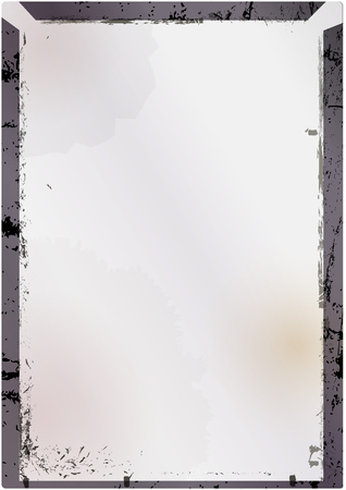 Empty large format vintage glass negative or picture frame,free copy space, grunge style