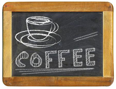 coffee advertising design template on blackboard, coffee shop menu, free copy space