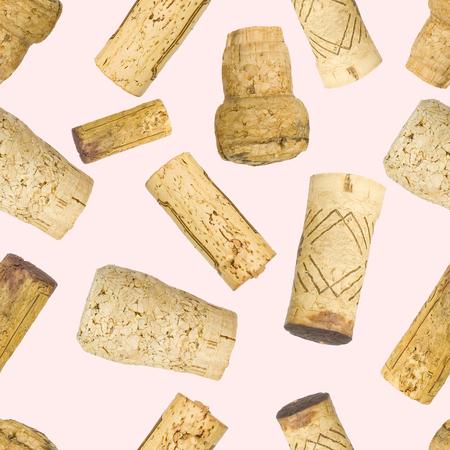 Seamless wine corks pattern background