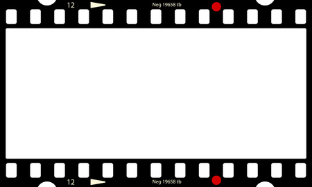 Empty panorama photo negative, picture frame, free copy space, vector