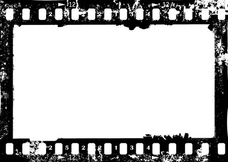 frame of camera film, grungy photo frame,with free copy space,vector illustration