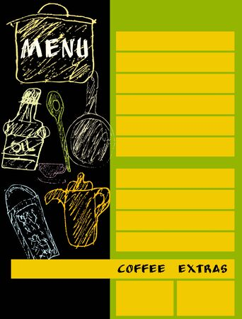 restaurant menu design template mockup for print out, free copy space, vector