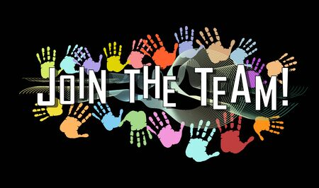 job advertisement,employment ad mockup. Recruitement, contacts, teamwork, networking,vector illustration Illustration