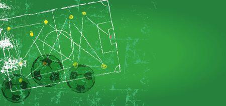 Soccer  Football design template,free copy space, vector Ilustracja