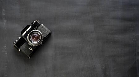 old analog film slr camera, photography, vintage photo gear concept