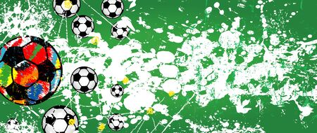 Soccer / Football design for the great soccer event in 2020, grunge style vector mock up