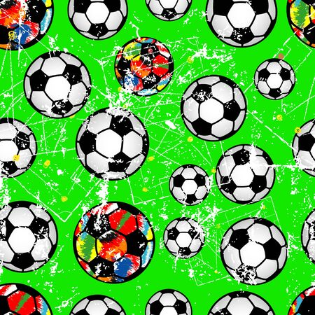 Soccer or Football seamless background for the great soccer event in 2020, grunge style vector