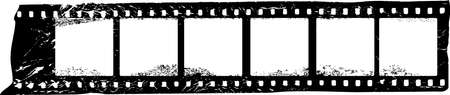 grungy film strip, blank photografic film, free space for pictures, vector, fictional artwork 向量圖像